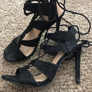 Shoes - Black laced heels